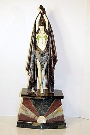 Signed Chiparus Bronze   - Antinea - 2