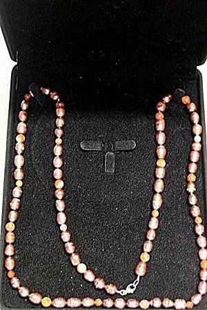 REDDISH BAROQUE PEARL NECKLACE