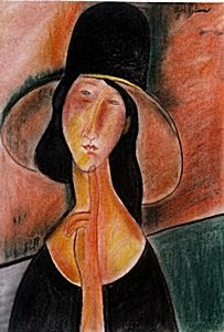 Woman with Hat Pastel  Amadeo Modigliani