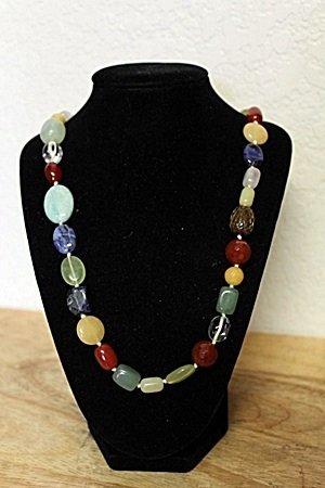 Jade Garnet Sapphire Necklace
