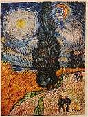 Vincent Van Gogh -Way With Cipreses