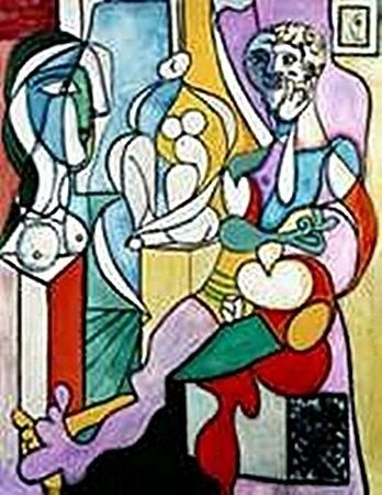 Artist with Sculptor-Collection Domaine Picasso
