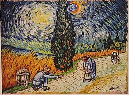 Vincent Van Gogh -Family In Wheat Field