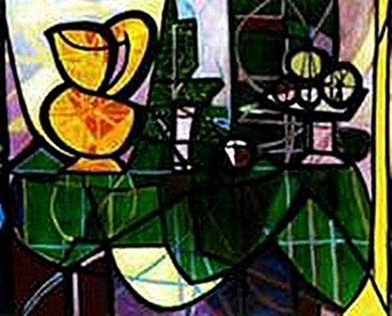 Pitcher and bowl of fruit-Collection Domaine Picasso