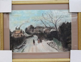 The White Frost - Pastel On Paper - Camille Pissarro