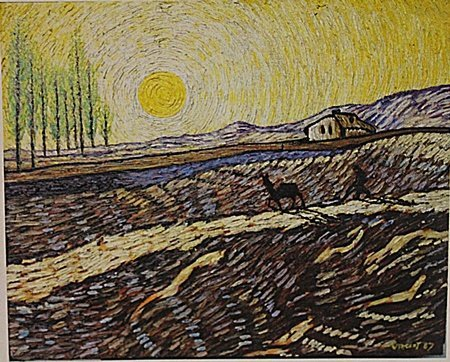 Vincent Van Gogh -Wheat Field