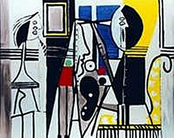 Painter in the studio-Collection Domaine Picasso