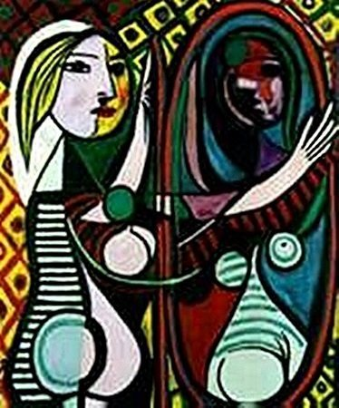 Girl before a mirror-Collection Domaine Picasso