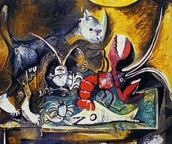 """""""The Lobster and Cat"""" by Pablo Picasso"""