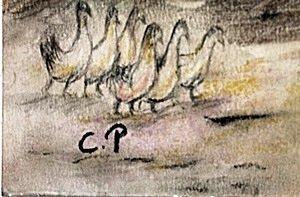 The Village In EragnyPastel On Paper - Camille Pissarro - 2