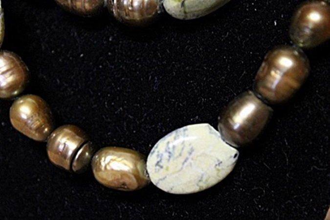Jade Baroque Pearl Necklace - 2