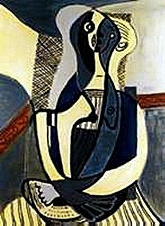 Seated woman-Collection Domaine Picasso