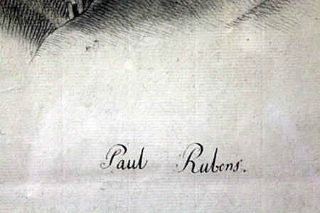 Lead Portrait On Paper, Signed Paul Rubens - 2