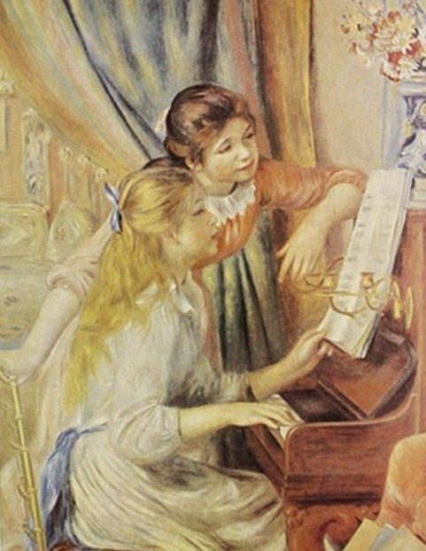 """""""Two Girls at the Piano"""" by Auguste Renior"""