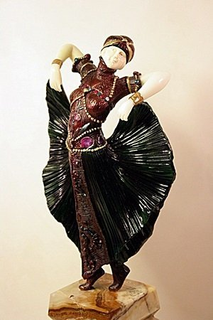 Butterfly Dancer - Bronze   Sculpture by Chiparus - 2