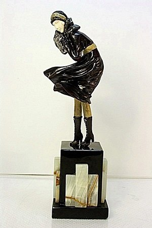 Signed Chiparus Bronze   - The Squall
