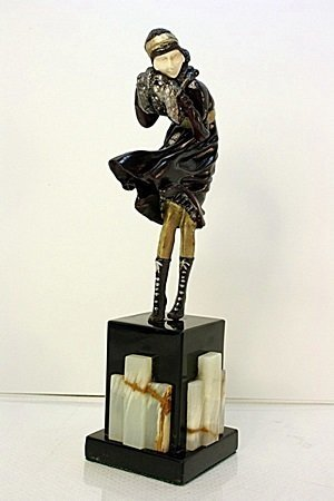 Signed Chiparus Bronze   - The Squall - 2