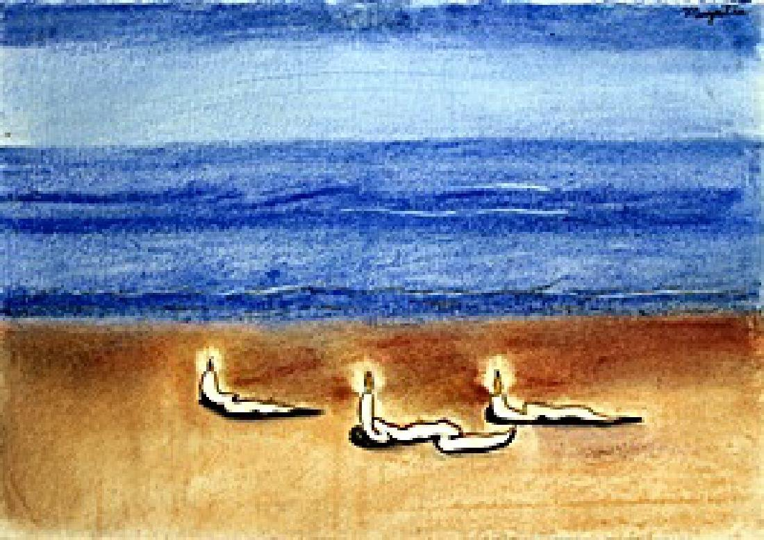 """Seascape"" Pastel on Paper -  Rene Magritte"