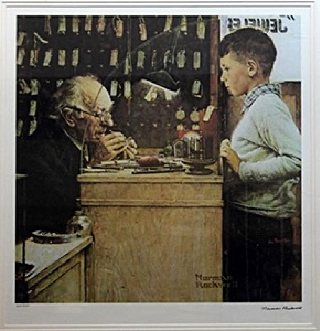 """Lithograph """"The Watchmaker""""  Norman Rockwell"""