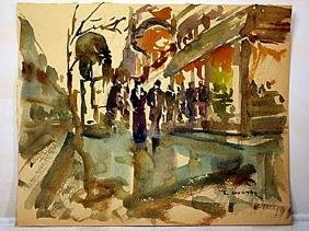 Watercolor on paper