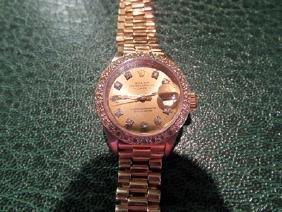 Women Presidental 18k Gold Diamond Rolex Watch
