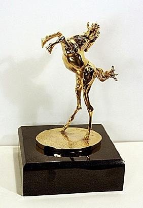 Gold Layered Bronze  Sculpture -Ferrari  Horse,