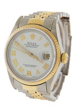 Men's 18K Gold DateJust Rolex Watch