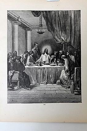 """The Dore Bible Gallery """"The Last Supper"""""""