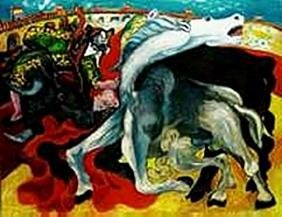 Bull fight, death of Toreador-Collection Domaine