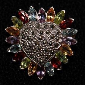 Lady's Fancy Heart Shape Marquise, Tanzanite, Topz &