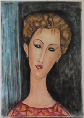 Pastel Painting on Paper Amedeo Modigliani