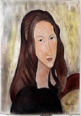 Pastel Painting on Paper by Amedeo Modigliani
