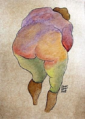 Woman - Gouache on Paper  Egon Shiele