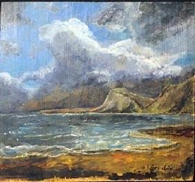 Oil Painting on Wood By Eugene. Boudin