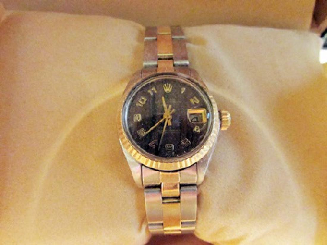 Women Date Just 18k Gold Rolex Watch