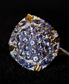 Beautiful Silver Tanzanite Ring