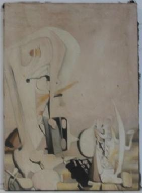 Oil Painting on Canvas by Yves Tanguy