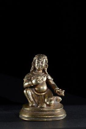 A Gilt Bronze Statuette