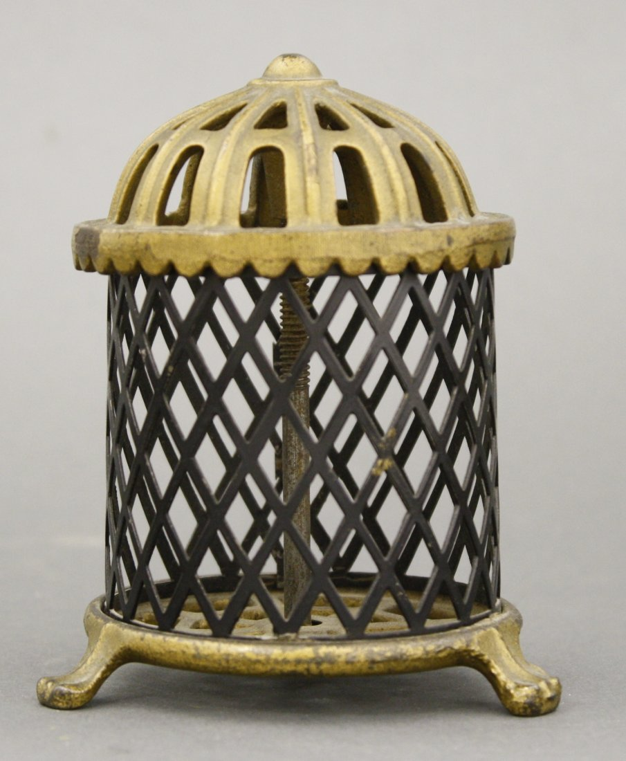 Cash Register Bank and Bird Cage with Wire Mesh - 3