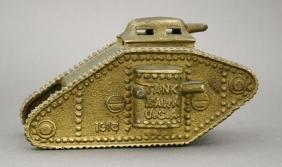 Large 1918 Tank Bank