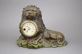 Lion Blinking Eye Clock