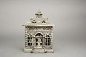 """Nickel Plated State Bank - 5.5"""" Tall"""