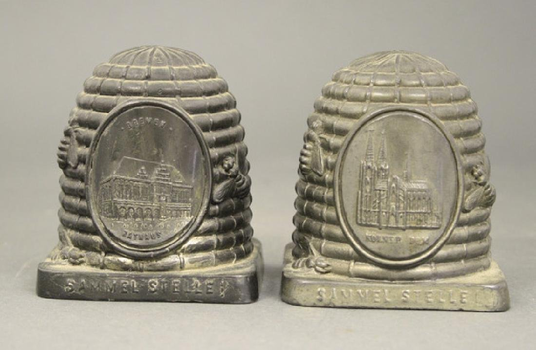 Two Beehive Souvenir Banks
