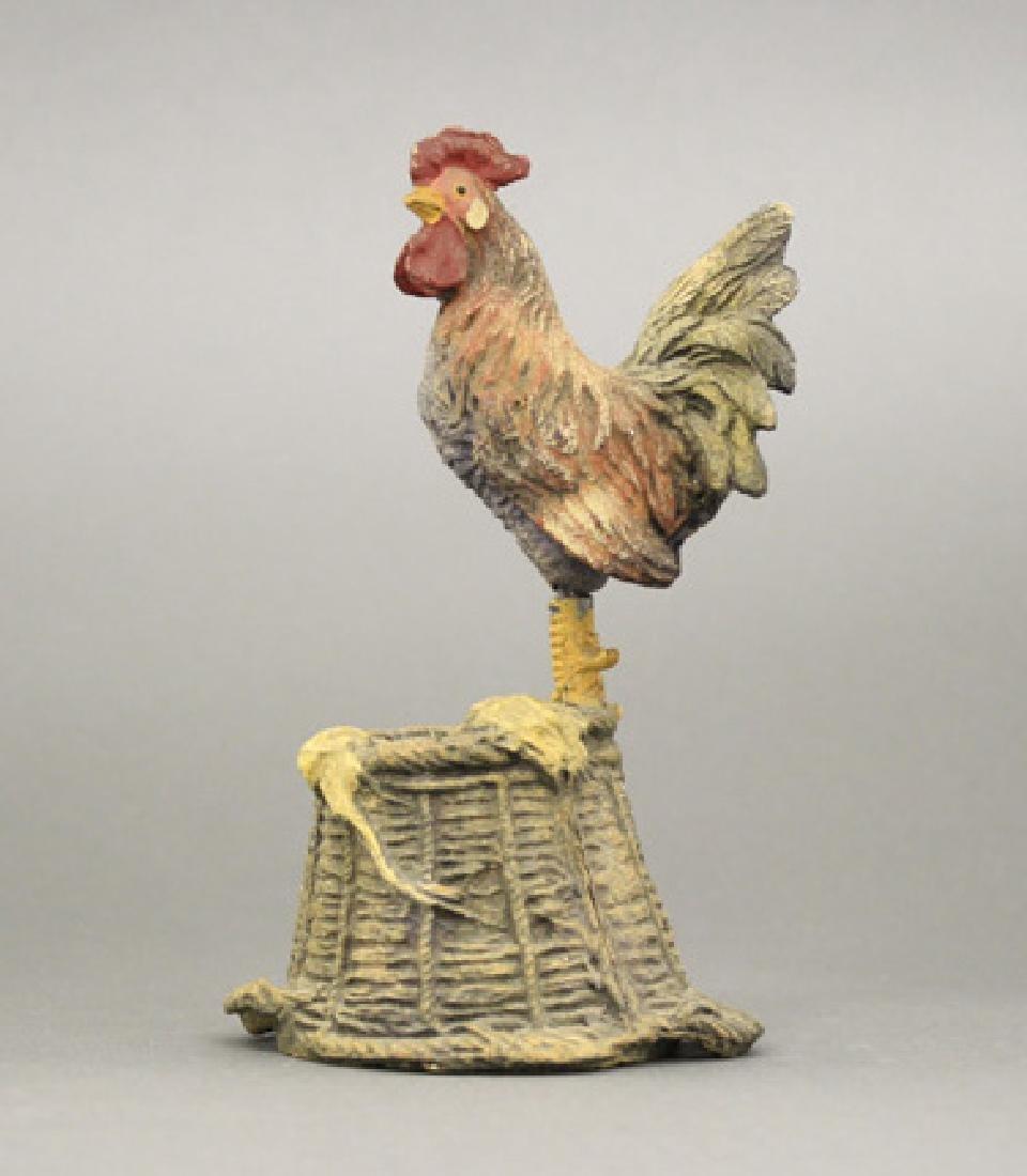 Rooster on Basket