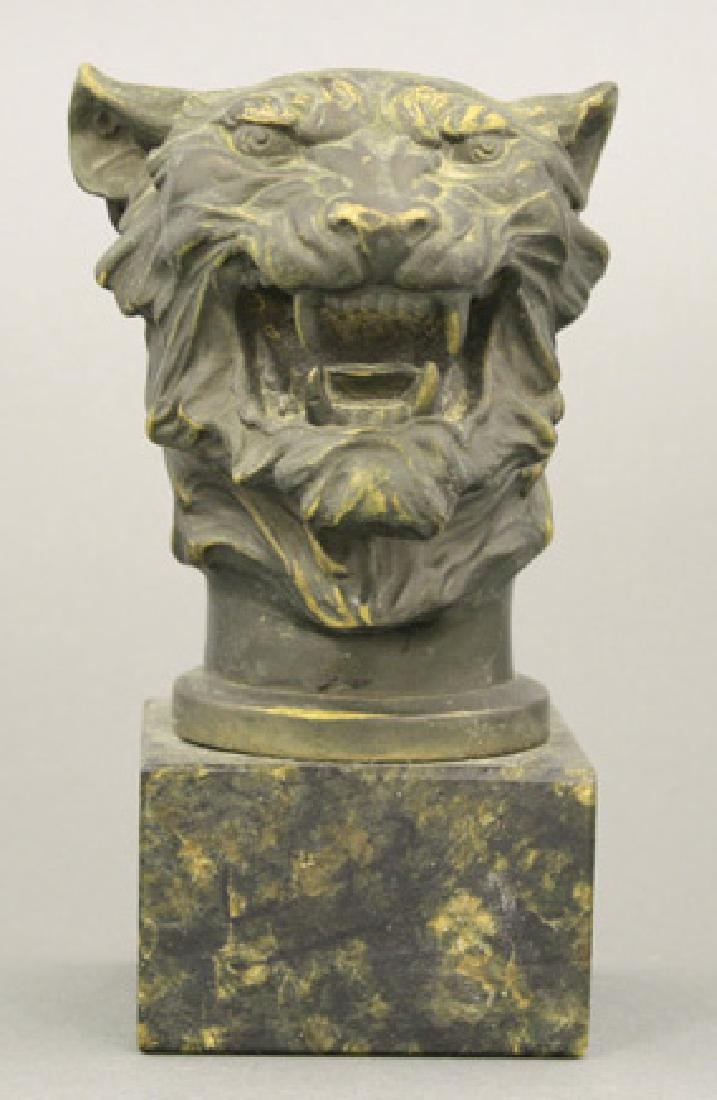 Tiger Bust on Marble Base