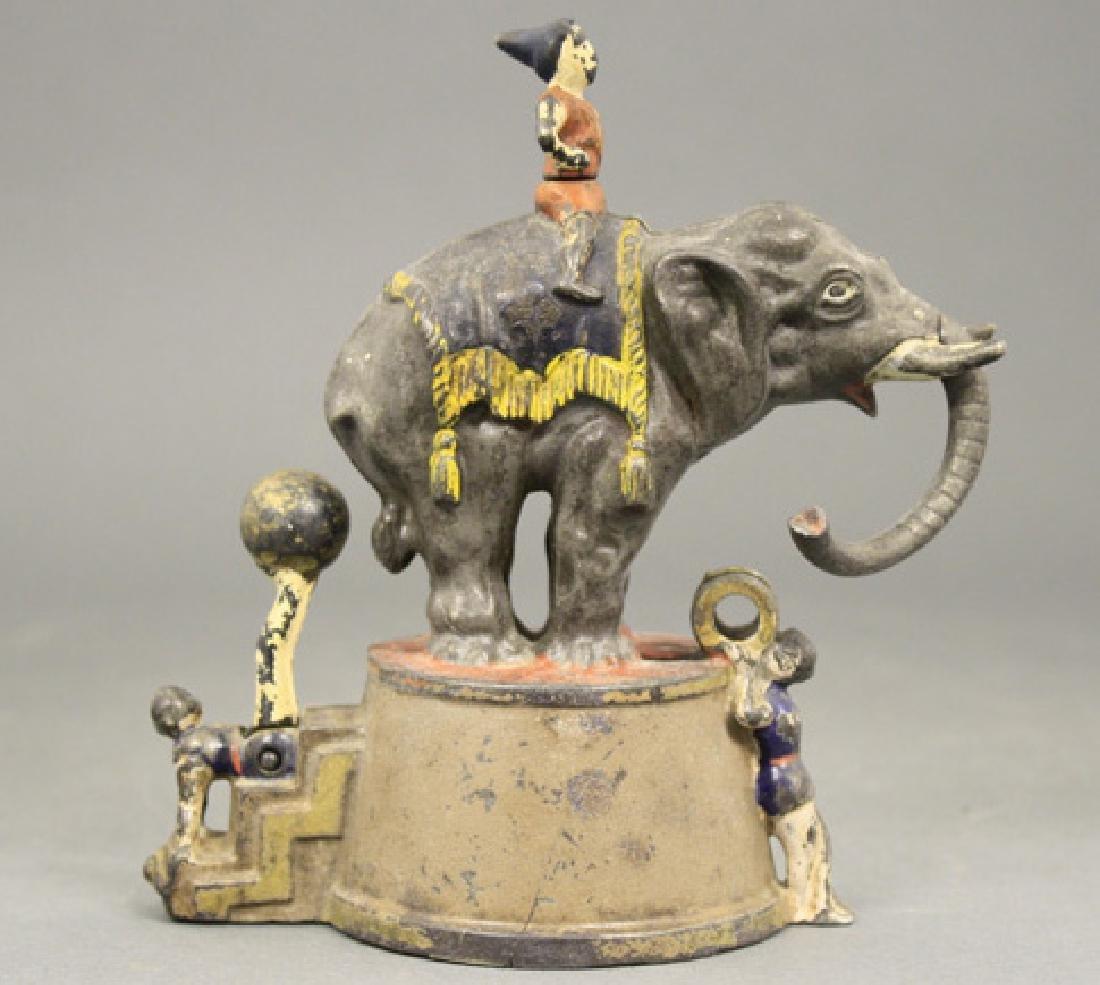Elephant and Three Clowns