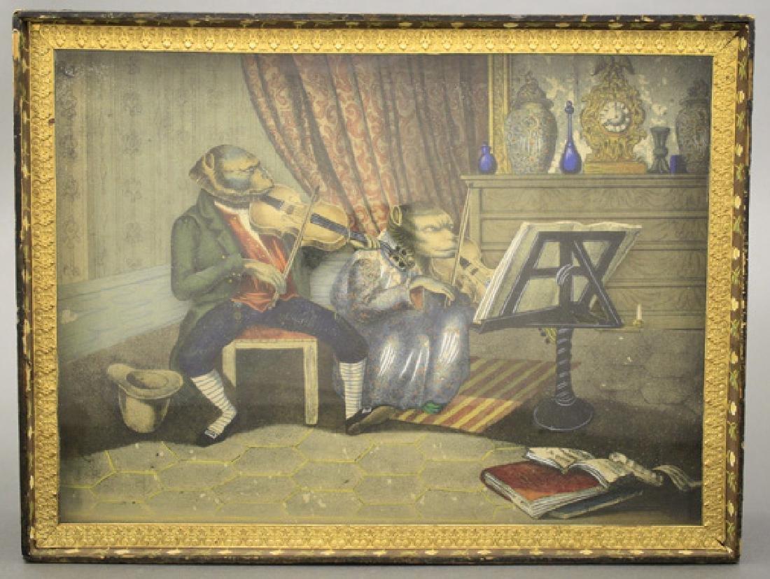 Monkey Violinists Sand Toy