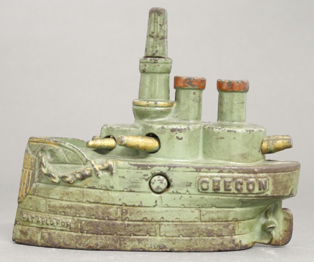 Large Green Battleship Oregon