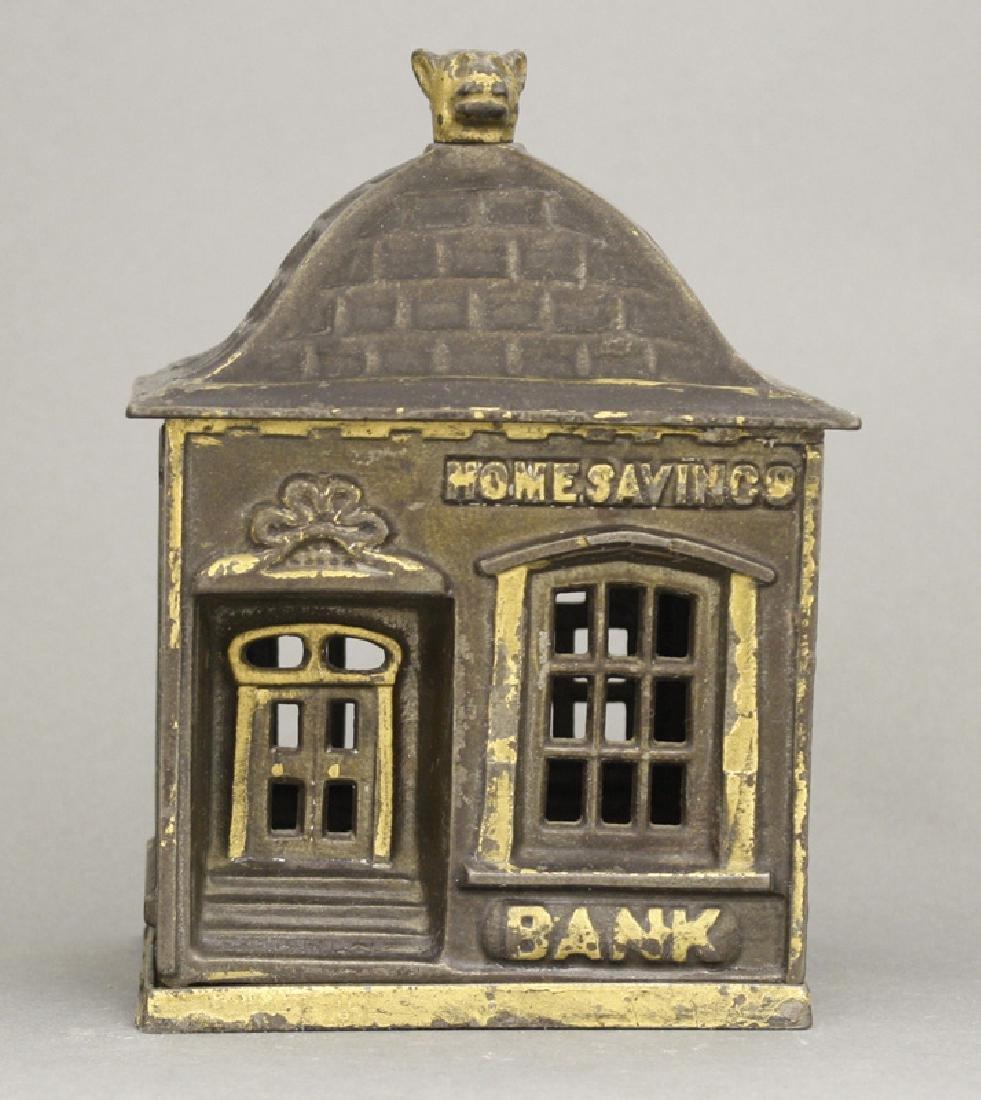 Home Savings Bank with Dog Finial