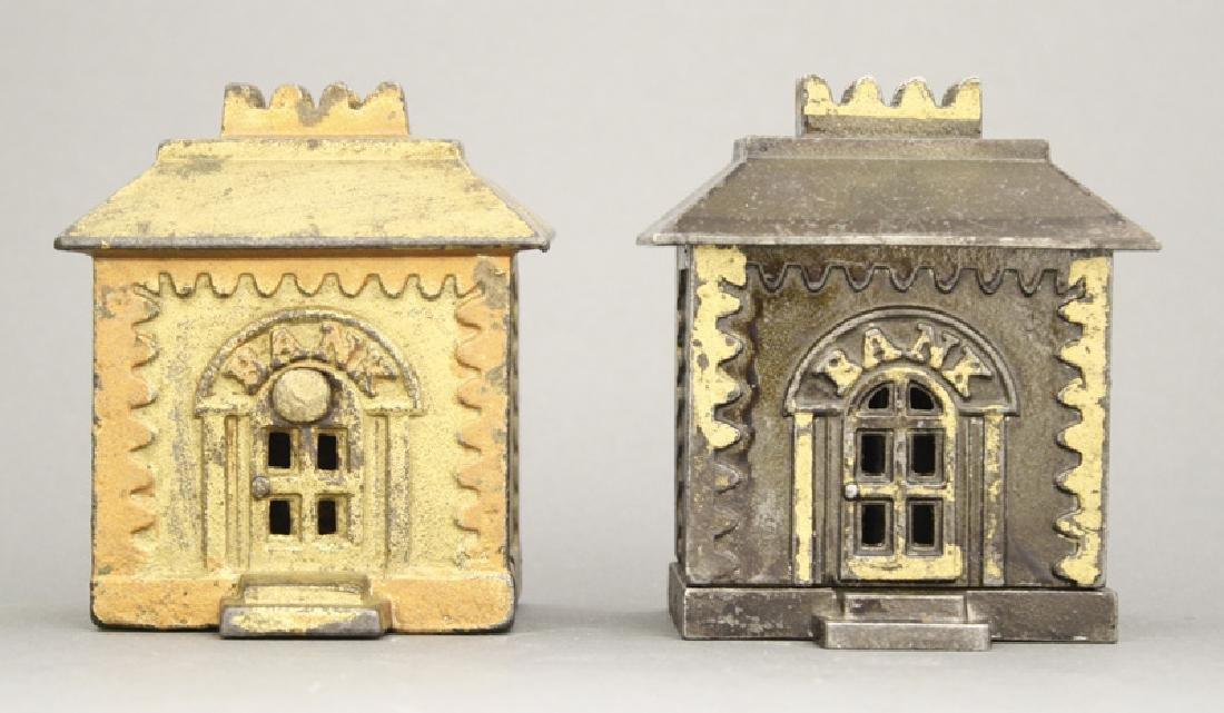 Two Medium Crown Iron Banks